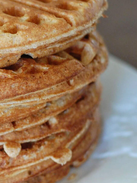 Whole Wheat Waffles Recipe by The Diabetic Pastry Chef™