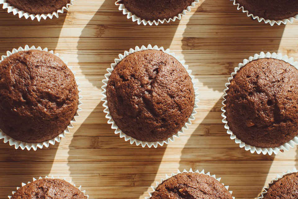 Healthy Two-Ingredient Muffins by The Diabetic Pastry Chef™