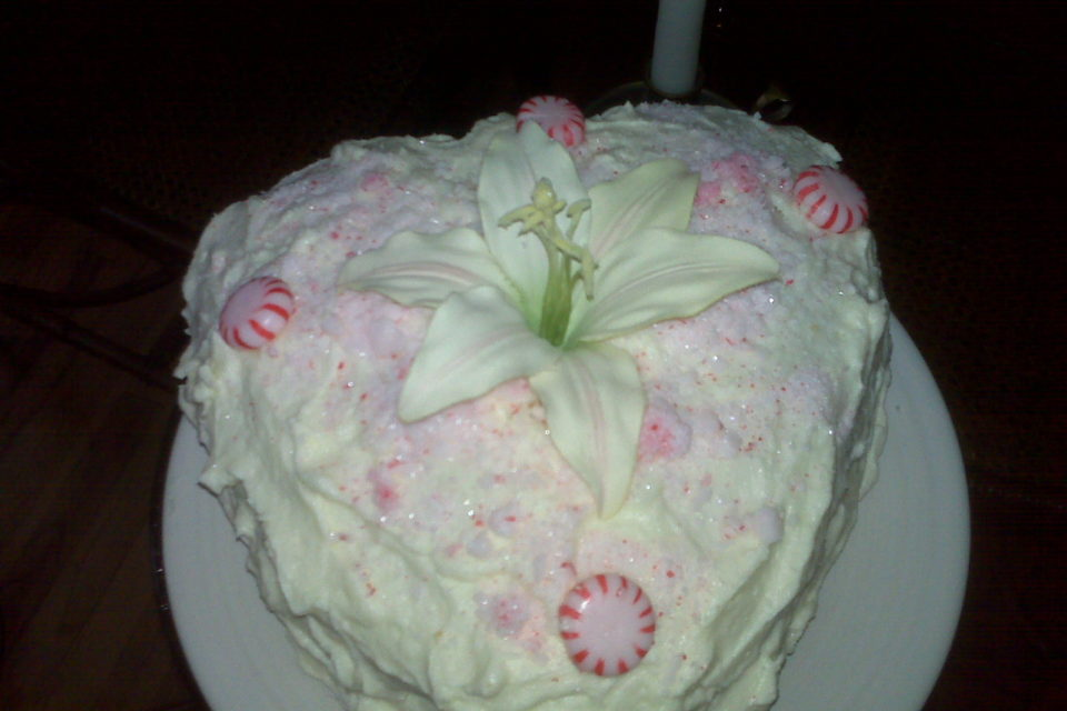 Peppermint Birthday Cake by The Diabetic Pastry Chef