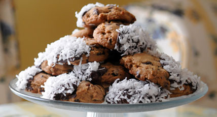 Chocolate Chip Cookies with Coconut by The Diabetic Pastry Chef