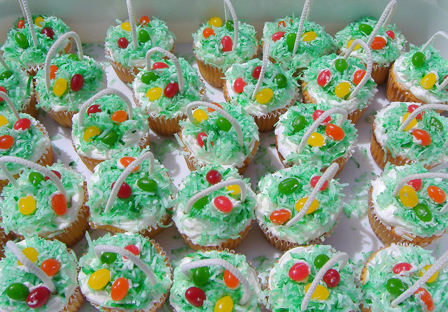 Easter Basket Cupcakes - Diabetic Treats