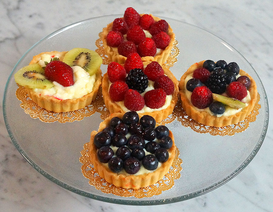 Fresh Fruit Tartlets - Diabetic Pastry Chef