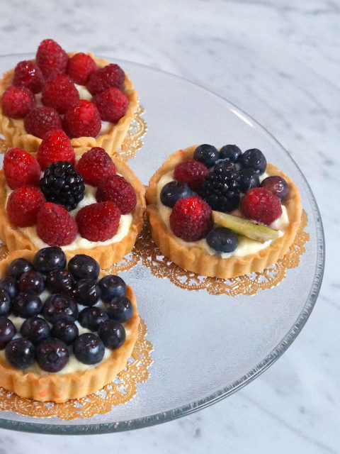 Sugar Free Fruit Tartlets by The Diabetic Pastry Chef