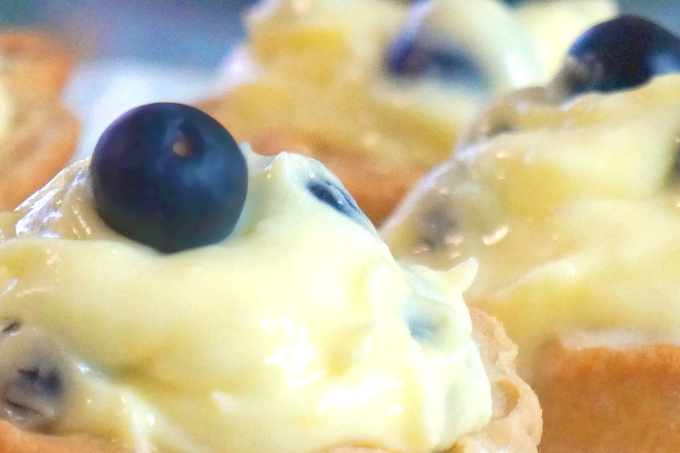Sugar Free Tartlets : Lemon-Blueberry, by The Diabetic Pastry Chef