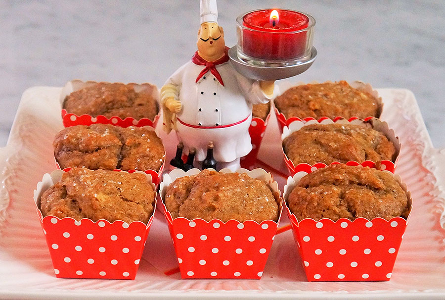Orange Date Muffins - The Diabetic Pastry Chef