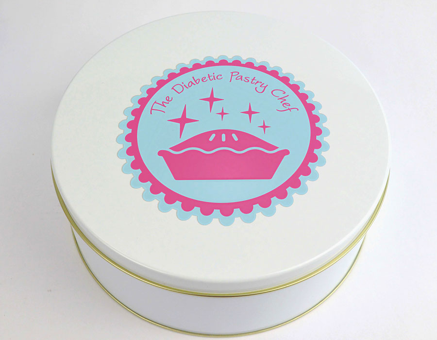Diabetic Pastry Chef Cookie Tin