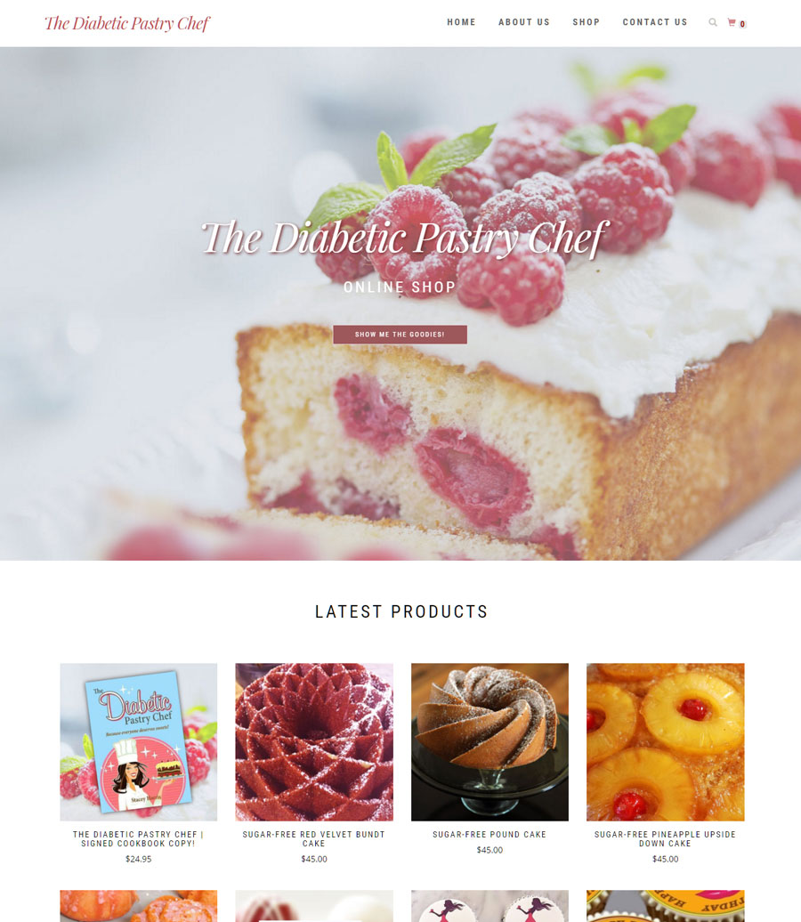 The New Diabetic Pastry Chef Online Shop