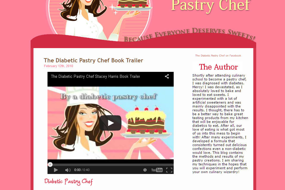 The Diabetic Pastry Chef blog