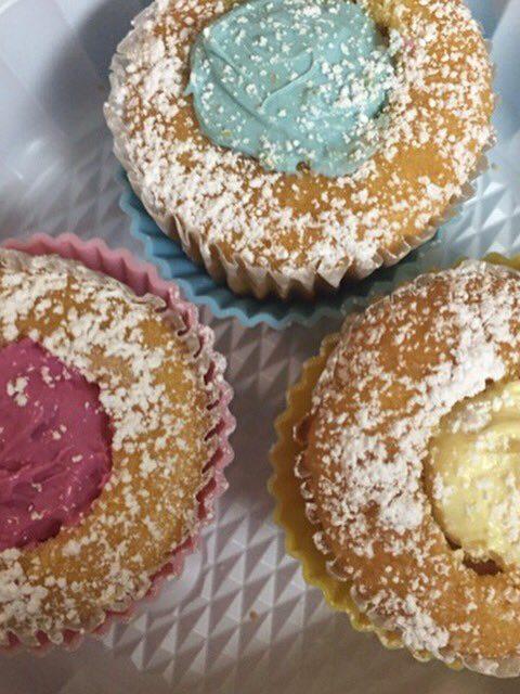 Pastel Filled Cupcakes (Regular or Diabetic)