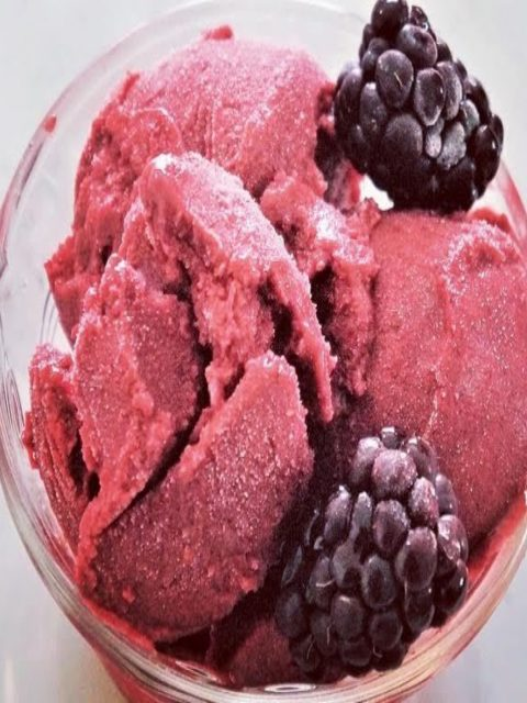 Sugar-Free Raspberry Ice Cream by The Diabetic Pastry Chef™