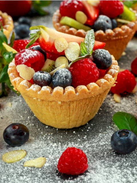 Sugar Free Fruit Tartlets Recipe by The Diabetic Pastry Chef