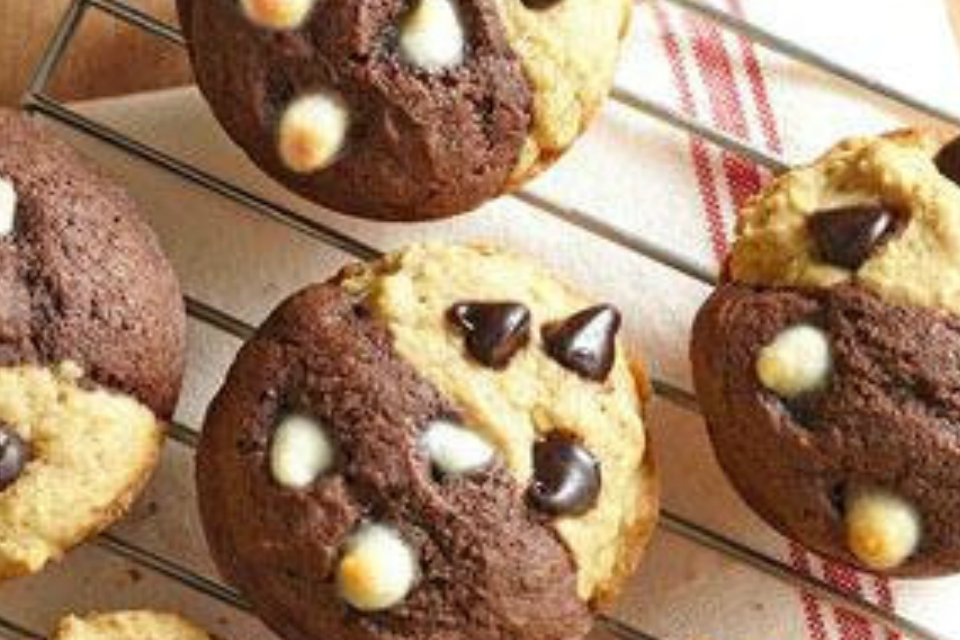 Sugar-Free Chocolate and Vanilla Muffins by The Diabetic Pastry Chef